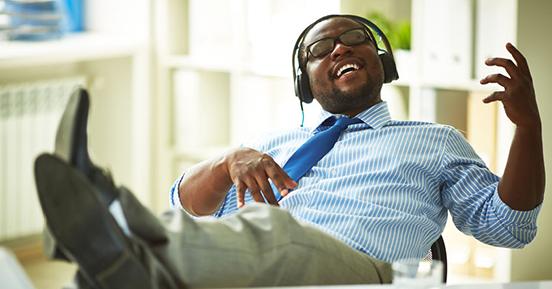 Headphone etiquette at work
