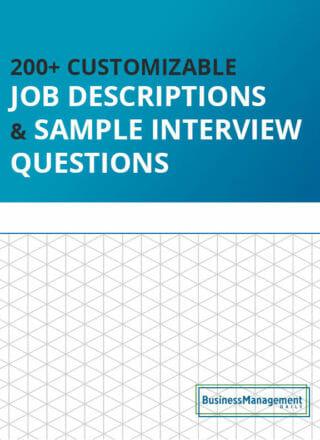 200+ Customizable Job Descriptions & Sample Interview Questions