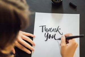 The power of a professional thank-you note