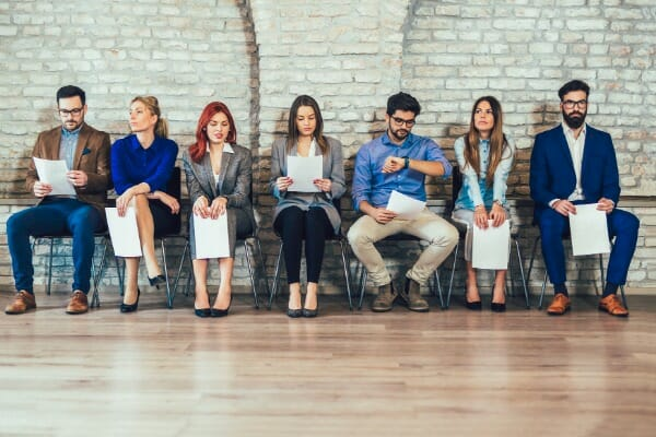 job interview tips interviewees sitting
