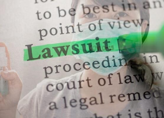 covid-19, pandemic, lawsuits 556x400