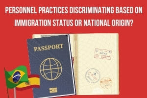 When have you crossed the line into immigration status discrimination?