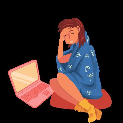 paid sick leave 400x400 girl sick telecommuting
