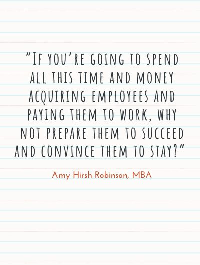 onboarding, new hires 400x630 Amy Hirsh Robinson quote1