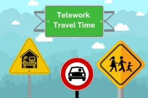When do you have to pay employees who telework for travel time?